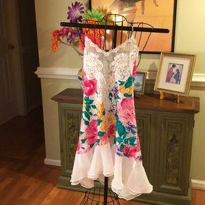 Victoria's Secret Cami Slip Floral Lace Ruffle M